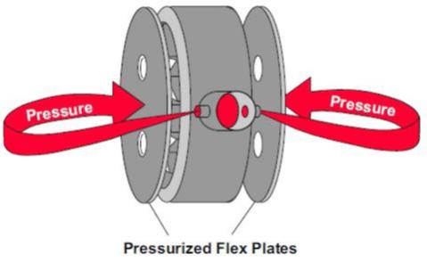 Les plateaux flexibles d'une pompe hydraulique à palette