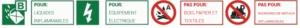 Types d'incendie sont des extincteurs de CO2 utilisés avec